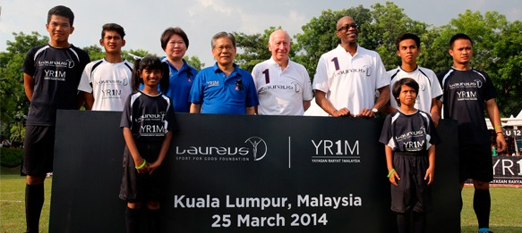 Bobby Charlton and Edwin Moses announce Laureus Grassroots Legacy for Malaysia