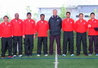 Participants of the AFC Pro-License course module in Japan