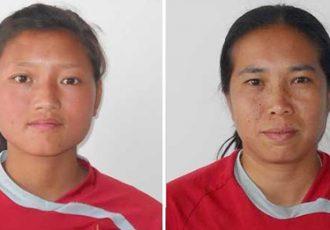 Lako Phuti Bhutia and Oinam Bembem Devi