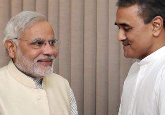 AIFF President Praful Patel with Prime Minister Narendra Modi