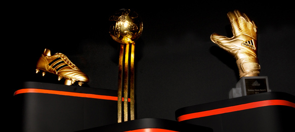 2014 FIFA World Cup Golden Ball, Golden Boot & Golden Glove trophies