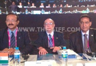 Indian trio represents AIFF in FIFA Congress
