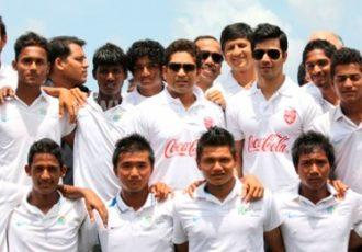 Sachin Tendulkar at the Coca-Cola Cup