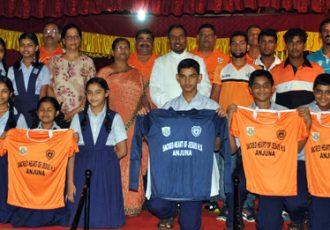 Sporting Clube de Goa adopt Sacred Heart High School in Anjuna