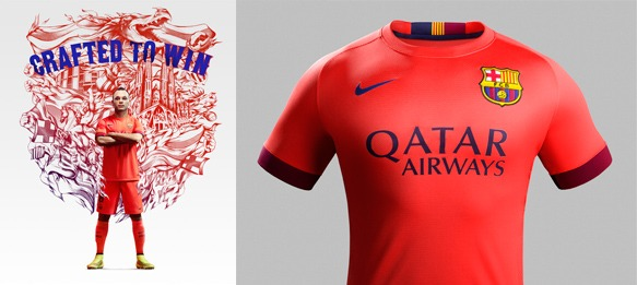 add460f15 nike and fc barcelona unveil new away kit for 2014-15 season