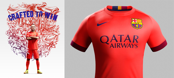 Nike and FC Barcelona unveil new Away Kit for 2014-15 Season