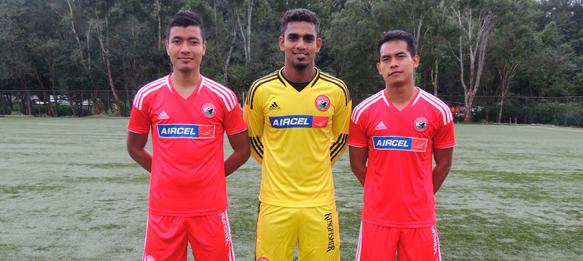 Aiborlang Khongjee, Rehnesh Thumbirumbu Paramba and David Ngaihte