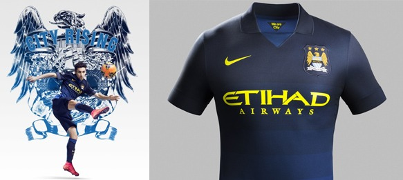 separation shoes 06ed2 accd7 Manchester City and Nike unveil Away Kit for 2014-15 Season ...