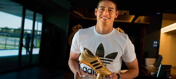 James Rodríguez presented with adidas Golden Boot Award ...