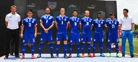 Bengaluru FC and PUMA unveil new home kit for 2014-15 season