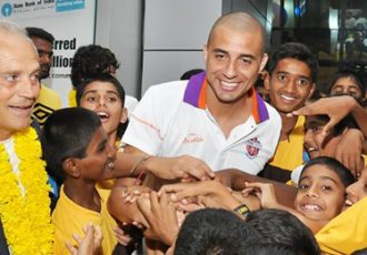 David Trezeguet arrives in Pune
