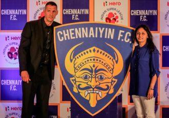 Marco Materazzi unveils Chennaiyin FC logo