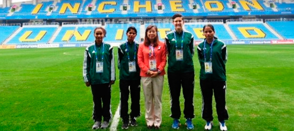 Maria Rebello and Uvena Fernandes at the Asian Games