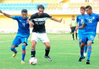 Robert Pirès in action for FC Goa