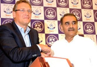 Jérôme Valcke and Praful Patel