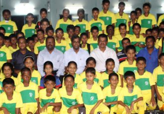 Goa Football Development Council kit distribution at Shiroda