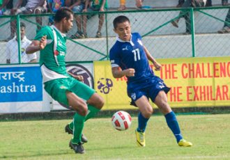 Durand Cup: Sunil Chhetri (Bengaluru FC) in action against Salgaocar FC