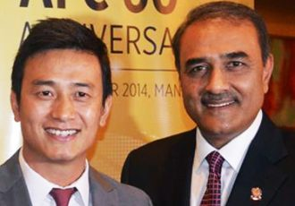 Baichung Bhutia and Praful Patel