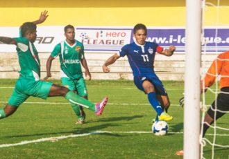Bengaluru FC's Sunil Chhetri in action against Salgaocar FC in the Federation Cup