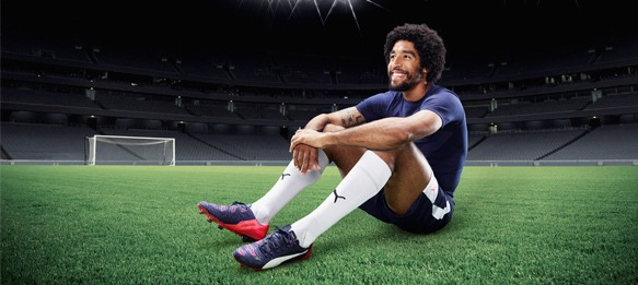 Dante wearing the new evoPOWER 1.2 FG football boot