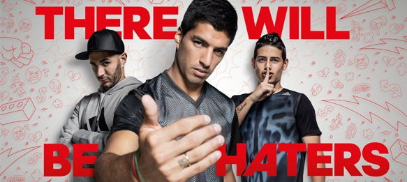 Suarez, Bale, Rodriguez and Benzema star in adidas #ThereWillBeHaters Film