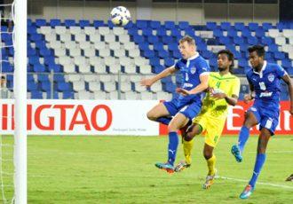 Shankar Sampingiraj scores Bengaluru FC's winner in an AFC Cup encounter