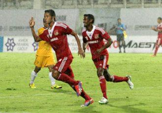 Thongkhosiem Haokip celebrating his goal for Pune FC