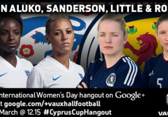 Google+ Hangout with England & Scotland Women's football stars