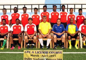 AFC A-License Certificate Course held in Goa