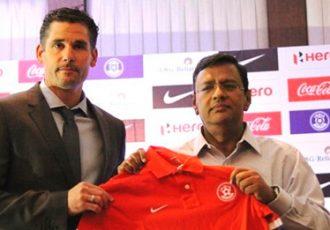 Nicolai Adam (Head Coach, India U-17) and Kushal Das (General Secretary, AIFF)