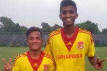 Pune FC U-19 players Chesterpaul Lyngdoh and Farukh Choudhary