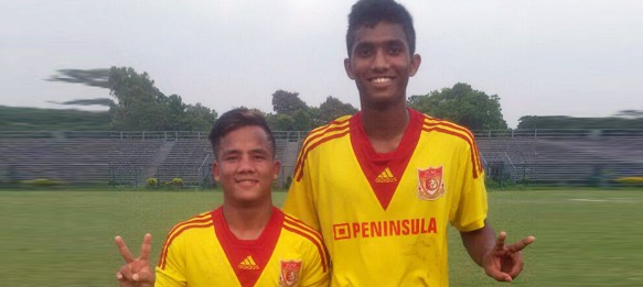 Pune FC U-19 players Chesterpaul Lyngdoh and Farukh Choudhary