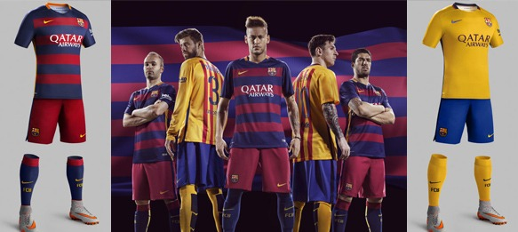07345da47 Nike and FC Barcelona unveil bold new home and away kits for 2015-16 ...