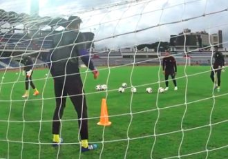 Rogerio Ramos training Indian national team goalkeepers