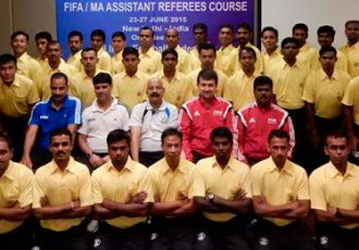 Indian referees being taught latest techniques in FIFA Course