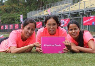 FIFA Live Your Goals - Indian Women's National team players Bala Devi, Bembem Devi and Sasmita Mallick
