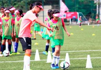 Bembem Devi during the FIFA Live Your Goals in Mumbai