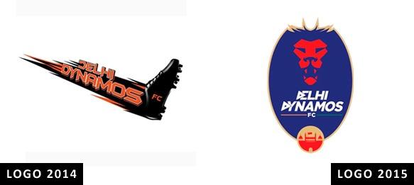 Delhi Dynamos FC - Old & New Logo