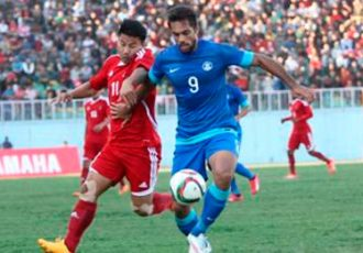 India's Robin Singh in action against Nepal