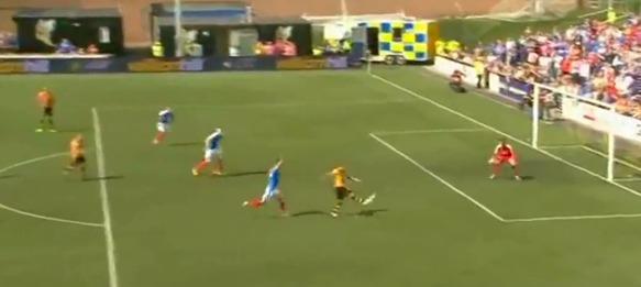 Michael Chopra scores stunner against Rangers FC