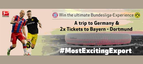 Bundesliga: Win a Trip to Germany + 2 Tickets for FC Bayern v Borussia Dortmund