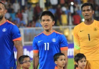 Robin Singh, Sunil Chhetri and Subrata Pal