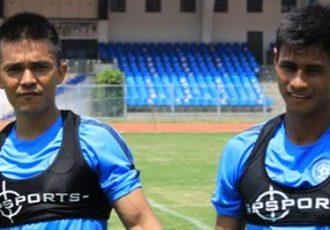 Sunil Chhetri and Eugeneson Lyngdoh