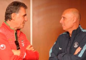Carlos Queiroz and Stephen Constantine
