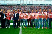 Atlético de Kolkata's trophy parade at the Vicente Calderón Stadium