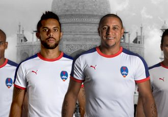 Delhi Dynamos present new PUMA jersey at the Taj Mahal