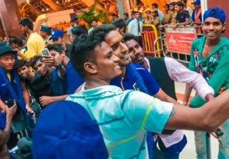 Chennaiyin FC squad receive warm welcome on home return