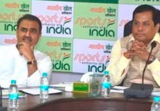 Praful Patel & Sarbananda Sonowal