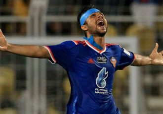 Keenan Almeida (FC Goa) celebrating his goal against Atlético de Kolkata