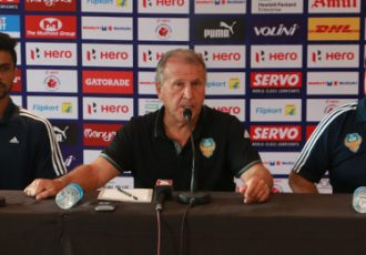 Zico during a FC Goa Press Conference